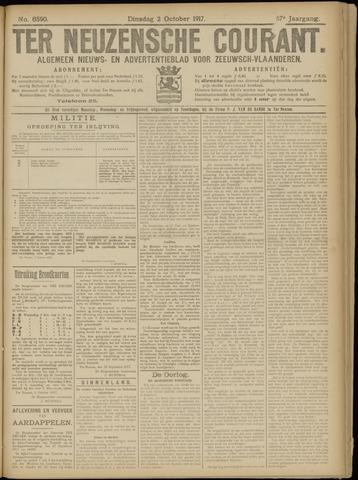 Ter Neuzensche Courant. Algemeen Nieuws- en Advertentieblad voor Zeeuwsch-Vlaanderen / Neuzensche Courant ... (idem) / (Algemeen) nieuws en advertentieblad voor Zeeuwsch-Vlaanderen 1917-10-02
