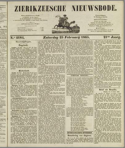 Zierikzeesche Nieuwsbode 1865-02-25