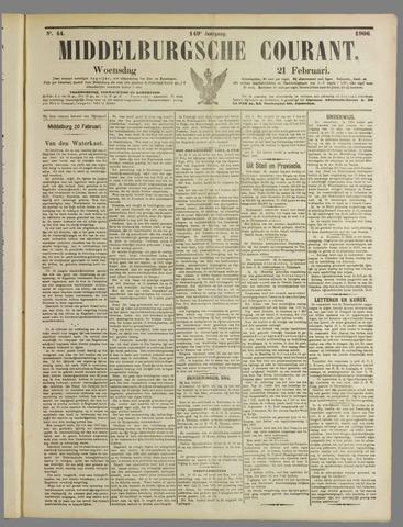 Middelburgsche Courant 1906-02-21