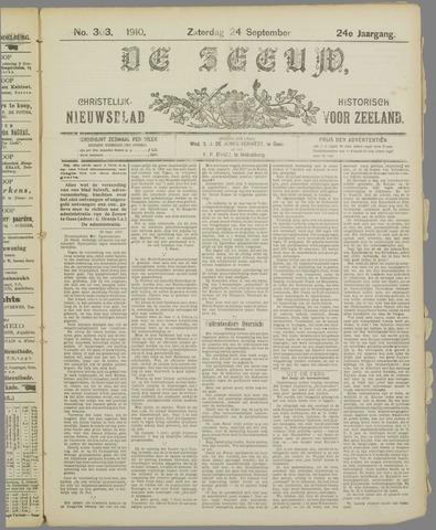 De Zeeuw. Christelijk-historisch nieuwsblad voor Zeeland 1910-09-24