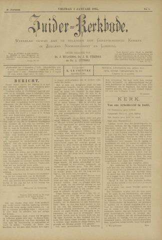 Zuider Kerkbode, Weekblad gewijd aan de belangen der gereformeerde kerken in Zeeland, Noord-Brabant en Limburg. 1895