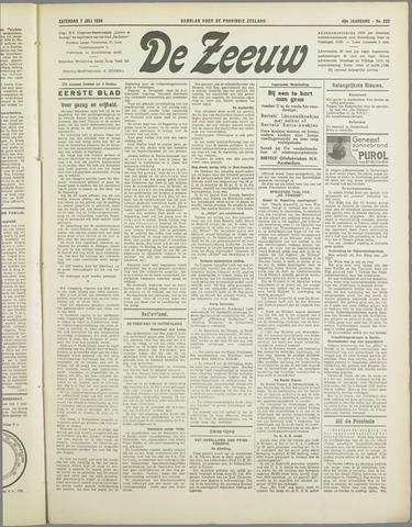 De Zeeuw. Christelijk-historisch nieuwsblad voor Zeeland 1934-07-07