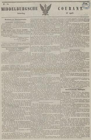 Middelburgsche Courant 1850-04-27