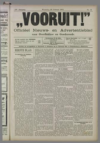 """""""Vooruit!""""Officieel Nieuws- en Advertentieblad voor Overflakkee en Goedereede 1913-02-26"""