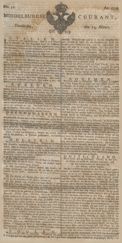 Middelburgsche Courant 1776-03-14