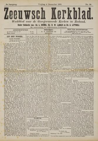 Zeeuwsche kerkbode, weekblad gewijd aan de belangen der gereformeerde kerken/ Zeeuwsch kerkblad 1908-12-04