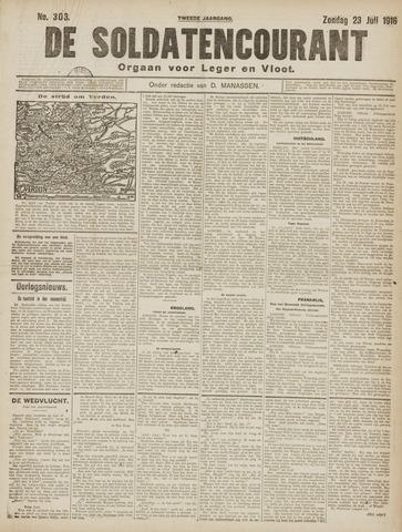 De Soldatencourant. Orgaan voor Leger en Vloot 1916-07-23