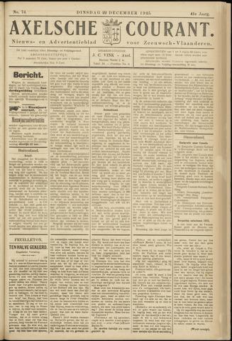 Axelsche Courant 1925-12-22