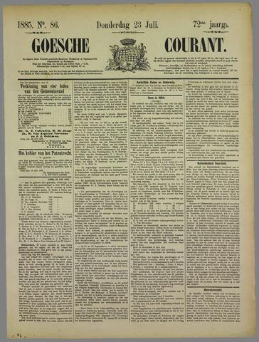 Goessche Courant 1885-07-23