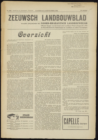 Zeeuwsch landbouwblad ... ZLM land- en tuinbouwblad 1954-09-25