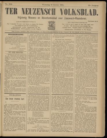 Ter Neuzensch Volksblad. Vrijzinnig nieuws- en advertentieblad voor Zeeuwsch- Vlaanderen / Zeeuwsch Nieuwsblad. Nieuws- en advertentieblad voor Zeeland 1914-10-21