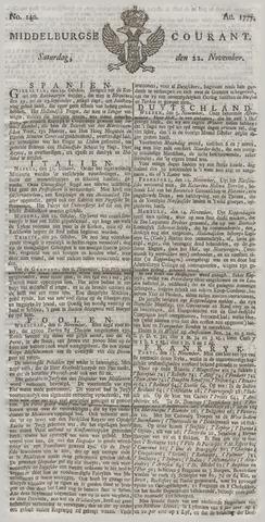 Middelburgsche Courant 1777-11-22