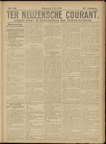 Ter Neuzensche Courant. Algemeen Nieuws- en Advertentieblad voor Zeeuwsch-Vlaanderen / Neuzensche Courant ... (idem) / (Algemeen) nieuws en advertentieblad voor Zeeuwsch-Vlaanderen 1921-07-04