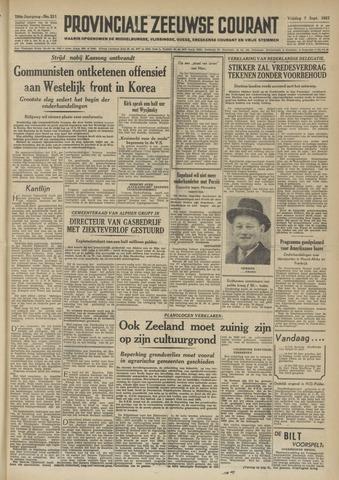 Provinciale Zeeuwse Courant 1951-09-07