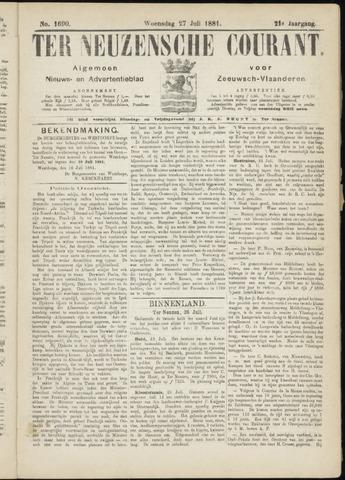 Ter Neuzensche Courant. Algemeen Nieuws- en Advertentieblad voor Zeeuwsch-Vlaanderen / Neuzensche Courant ... (idem) / (Algemeen) nieuws en advertentieblad voor Zeeuwsch-Vlaanderen 1881-07-27
