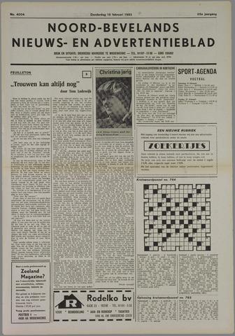 Noord-Bevelands Nieuws- en advertentieblad 1982-02-18