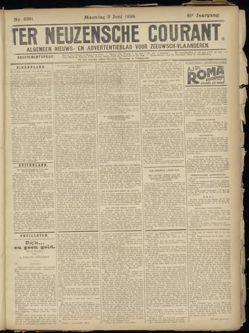 Ter Neuzensche Courant. Algemeen Nieuws- en Advertentieblad voor Zeeuwsch-Vlaanderen / Neuzensche Courant ... (idem) / (Algemeen) nieuws en advertentieblad voor Zeeuwsch-Vlaanderen 1929-06-03