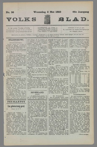 Volksblad 1923-05-02