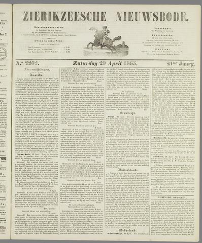 Zierikzeesche Nieuwsbode 1865-04-29
