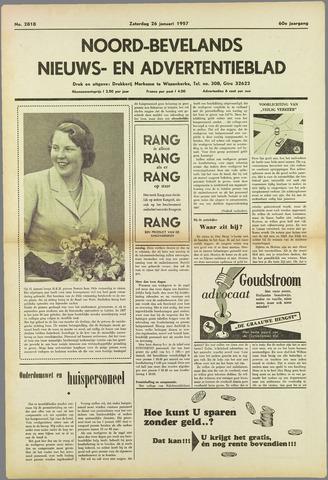 Noord-Bevelands Nieuws- en advertentieblad 1957-01-26