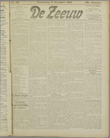 De Zeeuw. Christelijk-historisch nieuwsblad voor Zeeland 1917-11-08