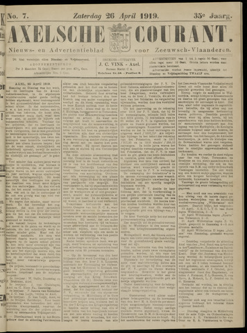 Axelsche Courant 1919-04-26
