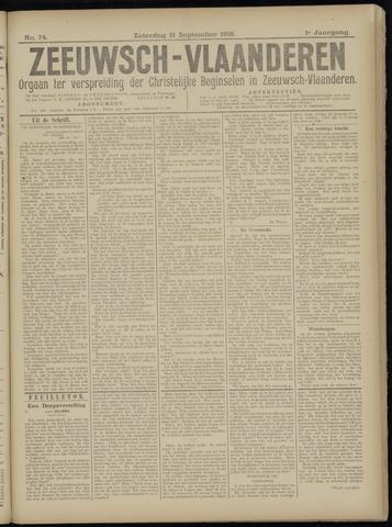 Luctor et Emergo. Antirevolutionair nieuws- en advertentieblad voor Zeeland / Zeeuwsch-Vlaanderen. Orgaan ter verspreiding van de christelijke beginselen in Zeeuwsch-Vlaanderen 1918-09-21