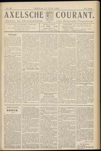 Axelsche Courant 1931-07-17