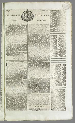 Zierikzeesche Courant 1814-07-15