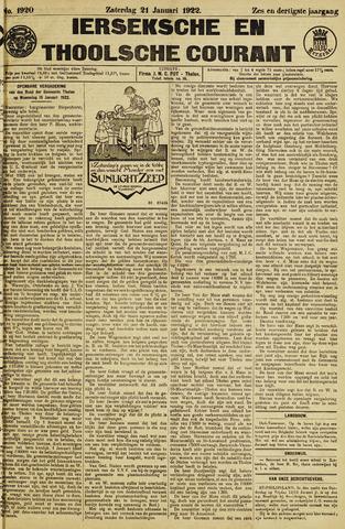 Ierseksche en Thoolsche Courant 1922-01-21