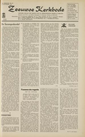 Zeeuwsche kerkbode, weekblad gewijd aan de belangen der gereformeerde kerken/ Zeeuwsch kerkblad 1963-11-22