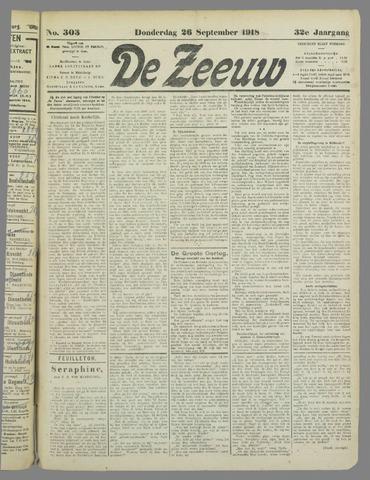 De Zeeuw. Christelijk-historisch nieuwsblad voor Zeeland 1918-09-26