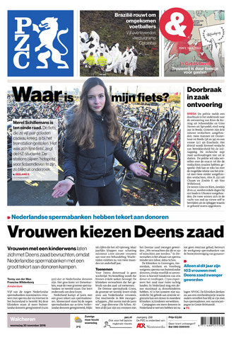 Provinciale Zeeuwse Courant 2016-11-30