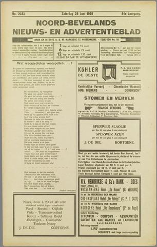 Noord-Bevelands Nieuws- en advertentieblad 1938-06-25