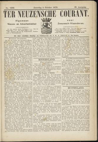 Ter Neuzensche Courant. Algemeen Nieuws- en Advertentieblad voor Zeeuwsch-Vlaanderen / Neuzensche Courant ... (idem) / (Algemeen) nieuws en advertentieblad voor Zeeuwsch-Vlaanderen 1879-10-04