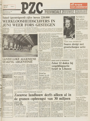 Provinciale Zeeuwse Courant 1975-07-08