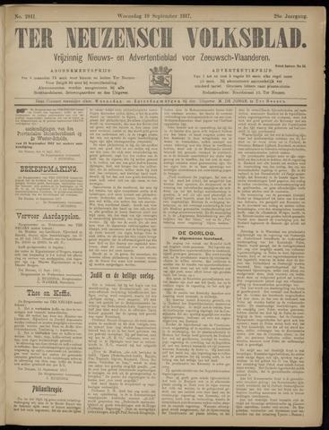 Ter Neuzensch Volksblad. Vrijzinnig nieuws- en advertentieblad voor Zeeuwsch- Vlaanderen / Zeeuwsch Nieuwsblad. Nieuws- en advertentieblad voor Zeeland 1917-09-19