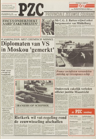 Provinciale Zeeuwse Courant 1985-08-22