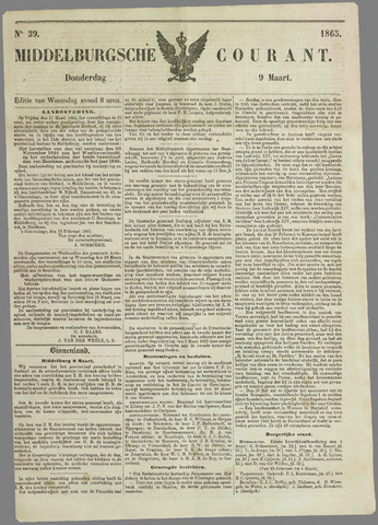 Middelburgsche Courant 1865-03-09