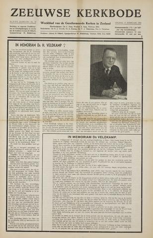 Zeeuwsche kerkbode, weekblad gewijd aan de belangen der gereformeerde kerken/ Zeeuwsch kerkblad 1956-02-17