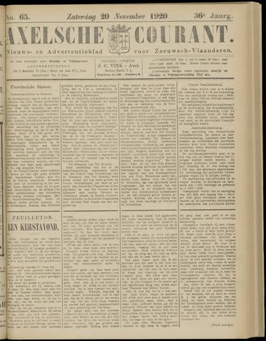 Axelsche Courant 1920-11-20