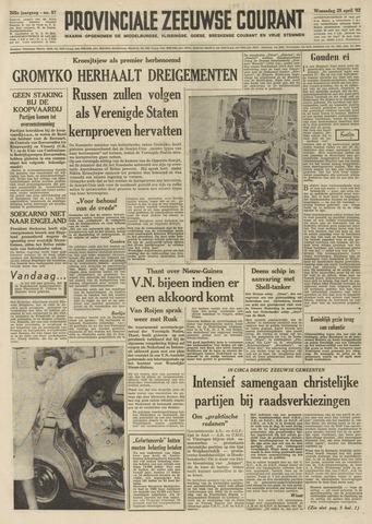 Provinciale Zeeuwse Courant 1962-04-25