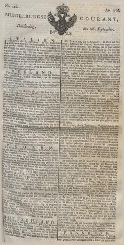 Middelburgsche Courant 1776-09-26