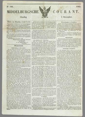 Middelburgsche Courant 1865-12-05