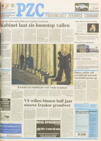 Provinciale Zeeuwse Courant 2003-09-27