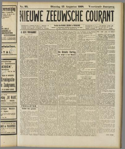 Nieuwe Zeeuwsche Courant 1918-08-13