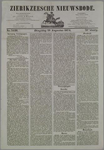 Zierikzeesche Nieuwsbode 1874-08-18