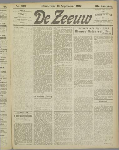 De Zeeuw. Christelijk-historisch nieuwsblad voor Zeeland 1917-09-13