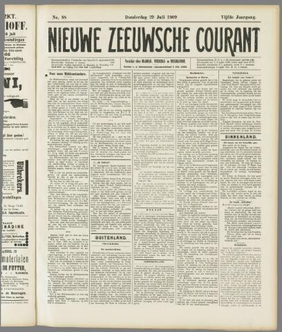 Nieuwe Zeeuwsche Courant 1909-07-29