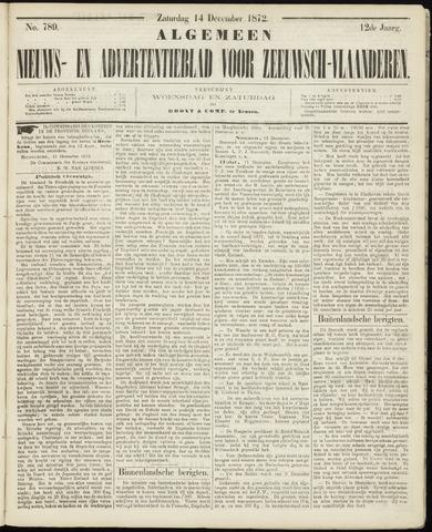 Ter Neuzensche Courant. Algemeen Nieuws- en Advertentieblad voor Zeeuwsch-Vlaanderen / Neuzensche Courant ... (idem) / (Algemeen) nieuws en advertentieblad voor Zeeuwsch-Vlaanderen 1872-12-14